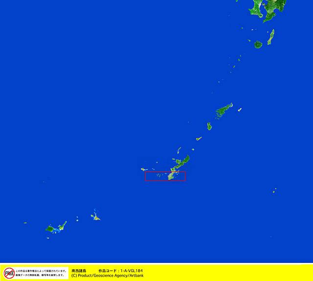 衛星写真・衛星画像・空撮 九州 南西諸島 □等倍サイズ切り抜き 衛星写真・衛星画像・空撮 九州
