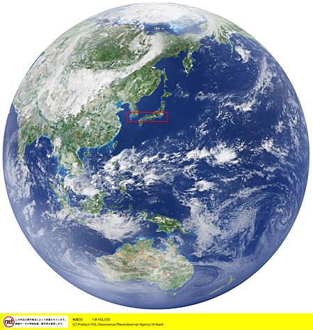 地球、衛星写真・衛星画像 ... : 日本地図 印刷 : 印刷