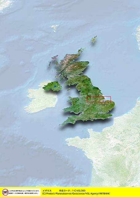 衛星写真・衛星画像・空撮 イギリス 地図画像 衛星写真・衛星画像・空撮 イギリス 地図画像 HO